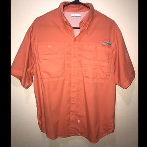 Columbia PFG shirt size Small Orange